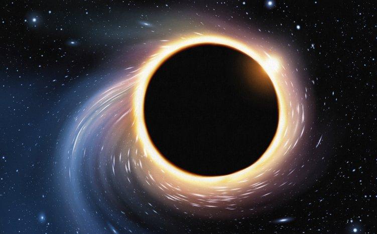 Астрономам удалось установить вес огромной черной дыры