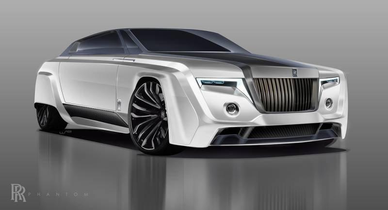 Размещено рендерное изображение модели Роллс Ройс Phantom 2050 года