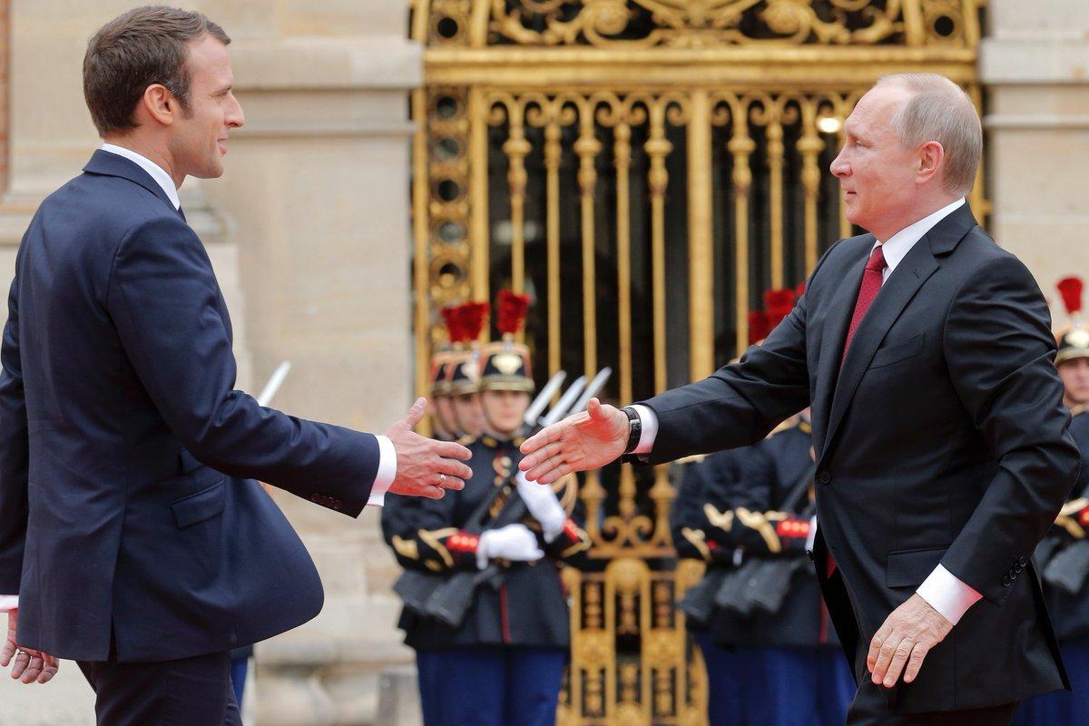 Президент Франции объявил оновом уровне сотрудничества сРФ поСирии