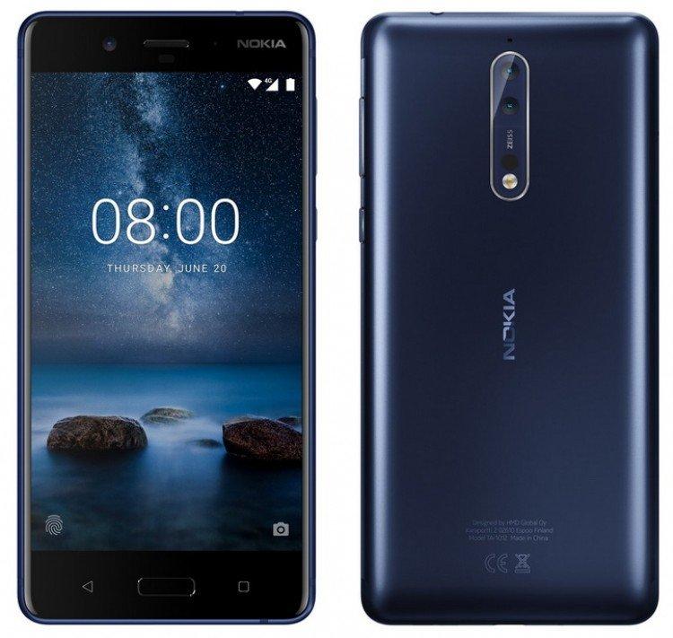 В Сеть попали ключевые особенности флагмана Nokia 8