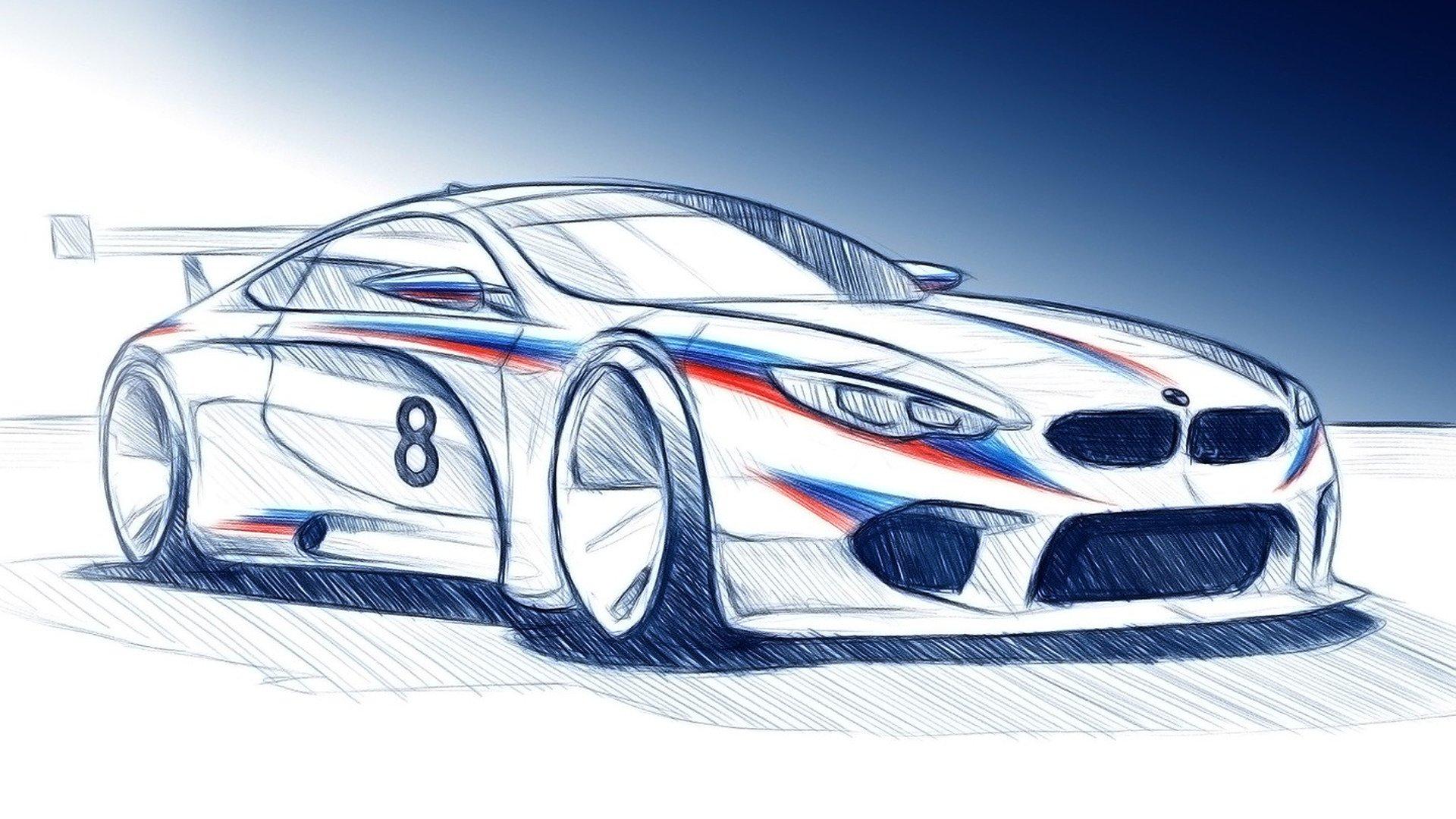 БМВ показала тизер гоночного купе M8 GTE