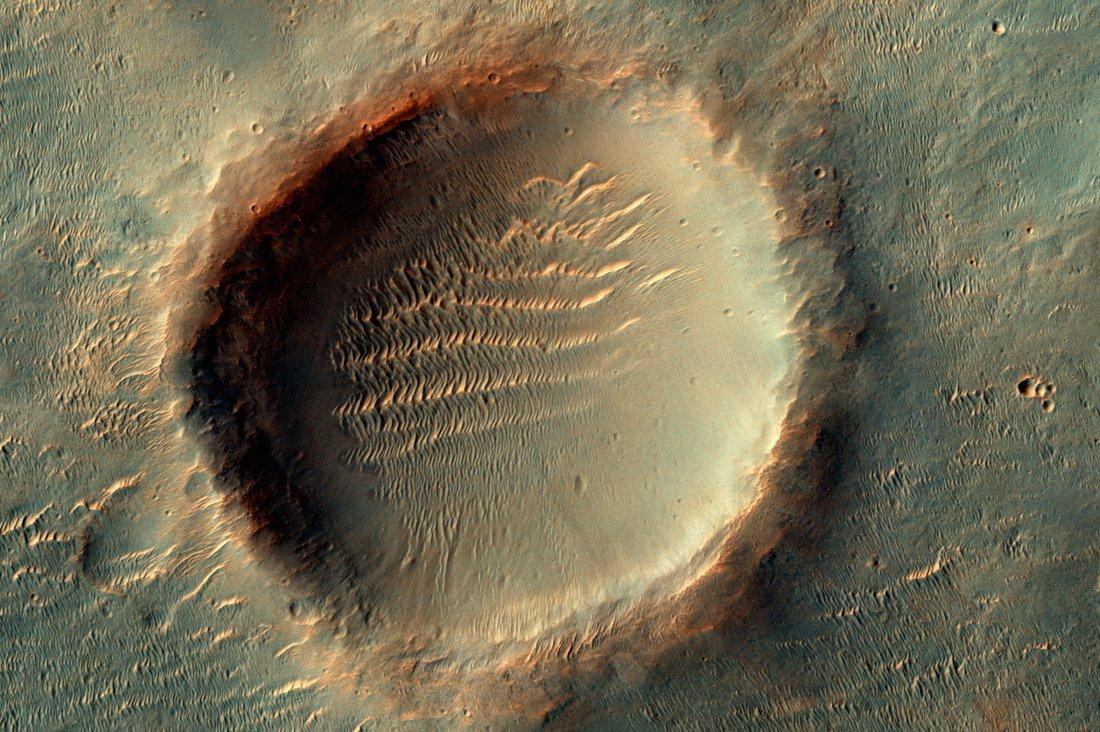 Кратер наМарсе назвали вчесть подмосковного Реутово