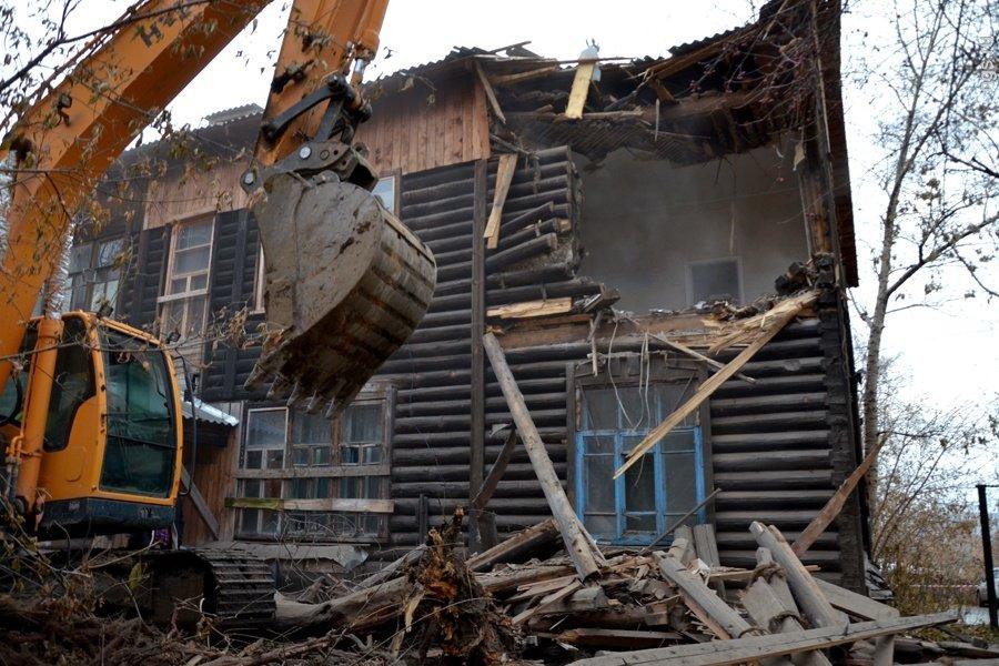 Втульском поселке снесли нелегальные постройки цыган