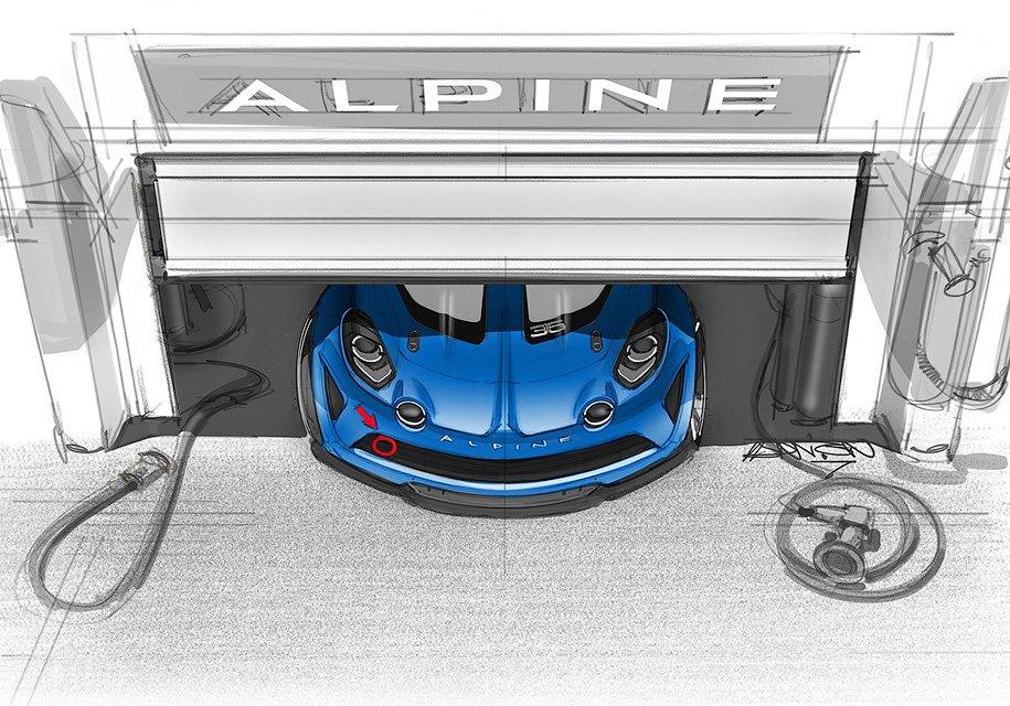 Рено работает над гоночным Альпин A110 Cup