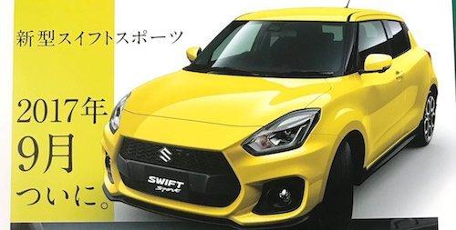 Вглобальной паутине опубликовали кадры брошюры сновым Сузуки Swift Sport