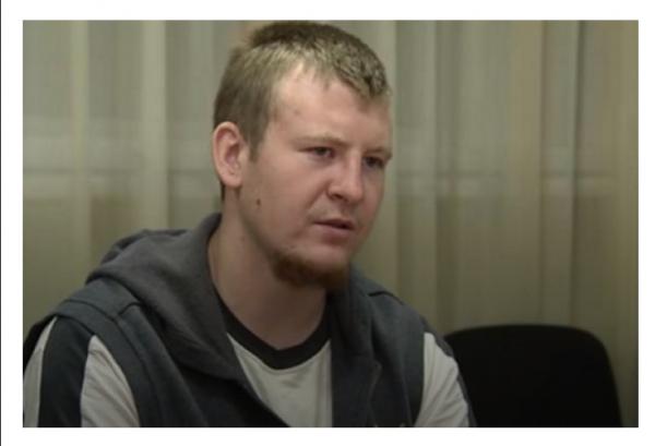 Взятый в плен в Донбассе россиянин назвал себя контрактником