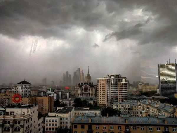 МЧС: В Москве на выходных ожидается гроза и шквалистый ветер