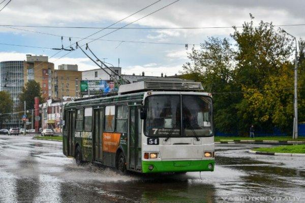В Ярославле в троллейбус ударила молния
