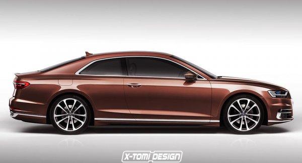 Опубликованы первые рендеры Audi A8 в кузове купе