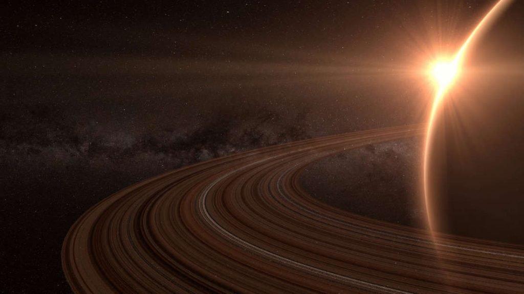 NASA представило первое фото рассвета наСатурне
