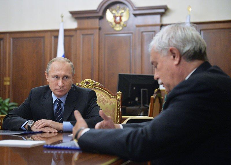 Опразднике вчесть день рождения Собчака сказал президенту Путину губернатор Петербурга