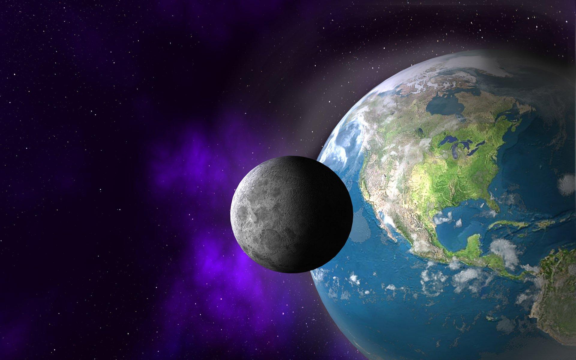 Картинки луны и земли для детей