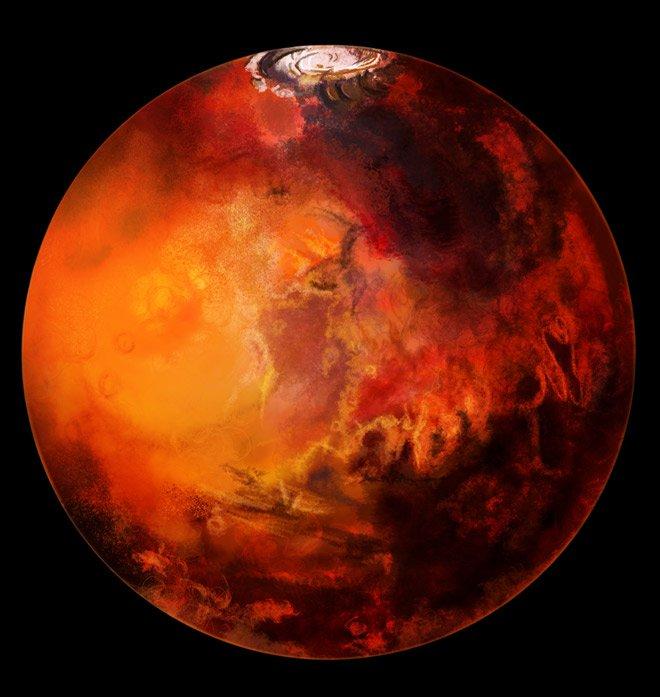 Ученые обнаружили наэкваторе Марса запасы воды
