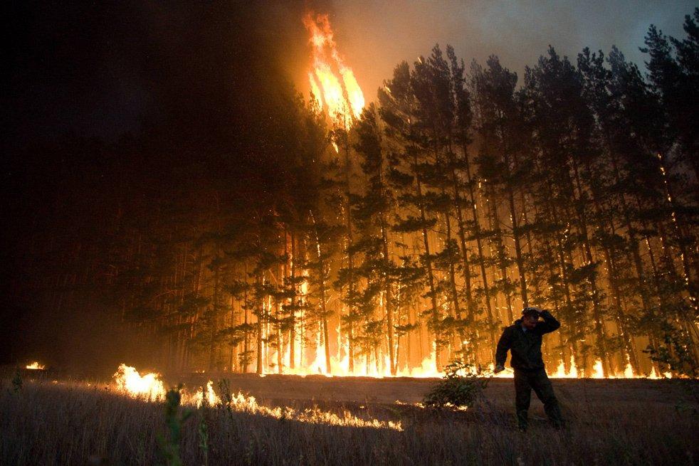 ВРостовской области больше 15 часов гасят природный пожар