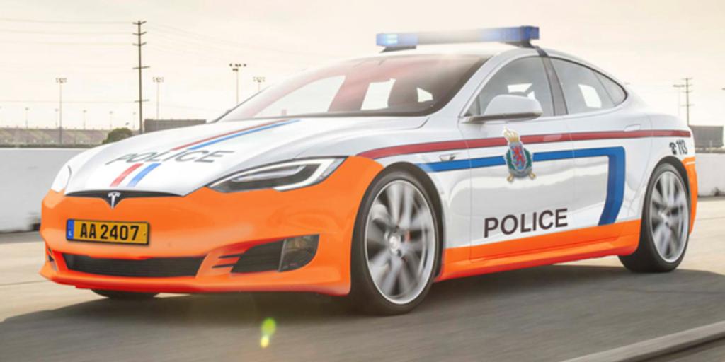 Tesla Model S становится полицейским патрульным автомобилем в Люксембурге