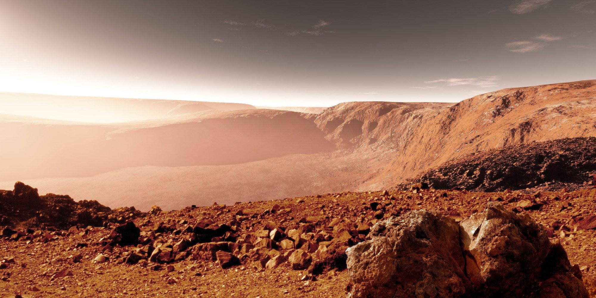 В 2020г  NASA запустит программу попоиску жизни наМарсе