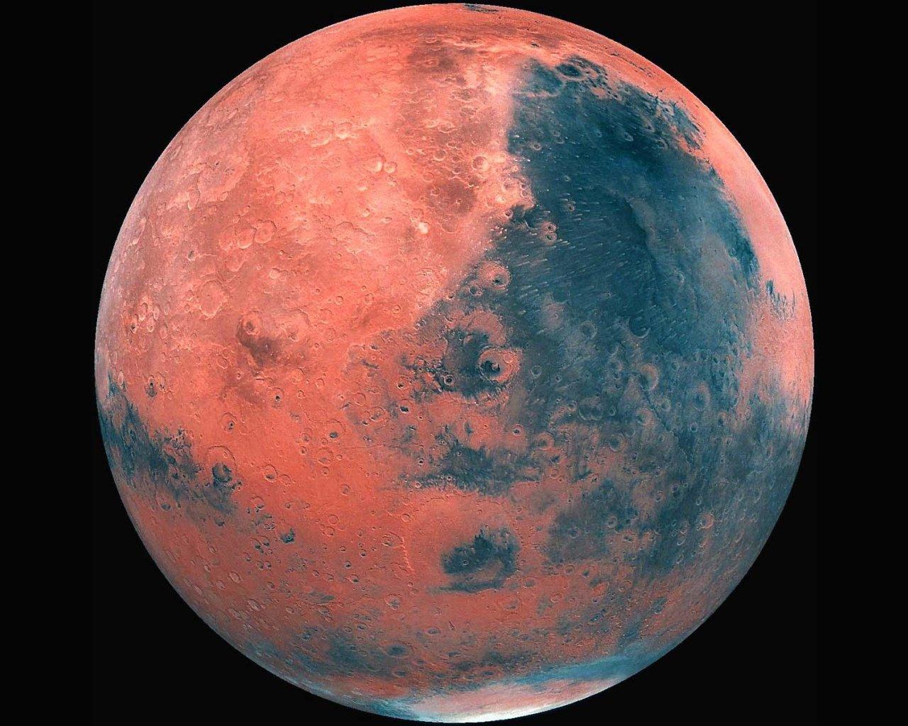 Ученые: наМарсе найдено углубление для НЛО
