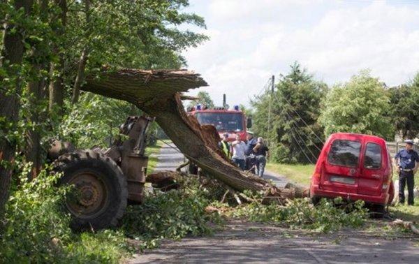 В Польше пять человек умерли из-за урагана с грозой