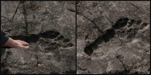 Найденный в Китае огромный след доказывает существование великанов - Конспирологи