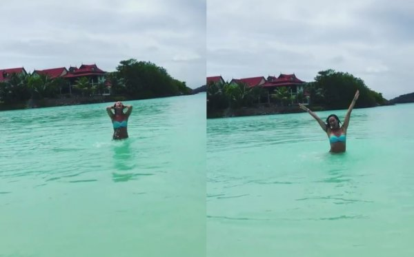 Бузова опубликовала видео эротического купания в океане