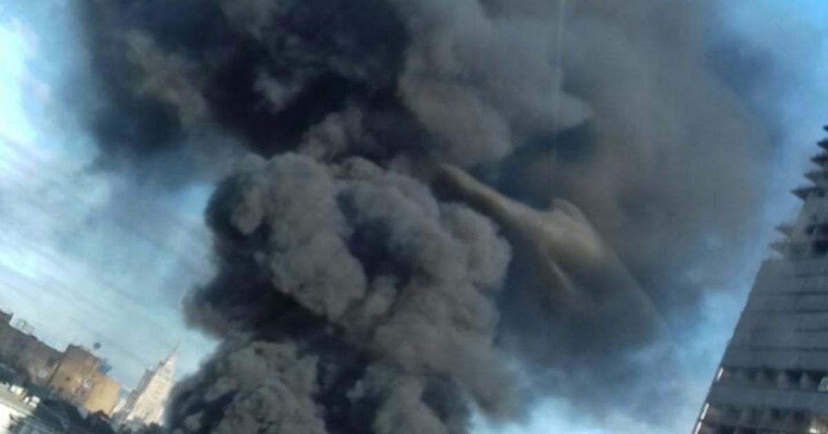 Рядом с«Москва-Сити» произошел пожар