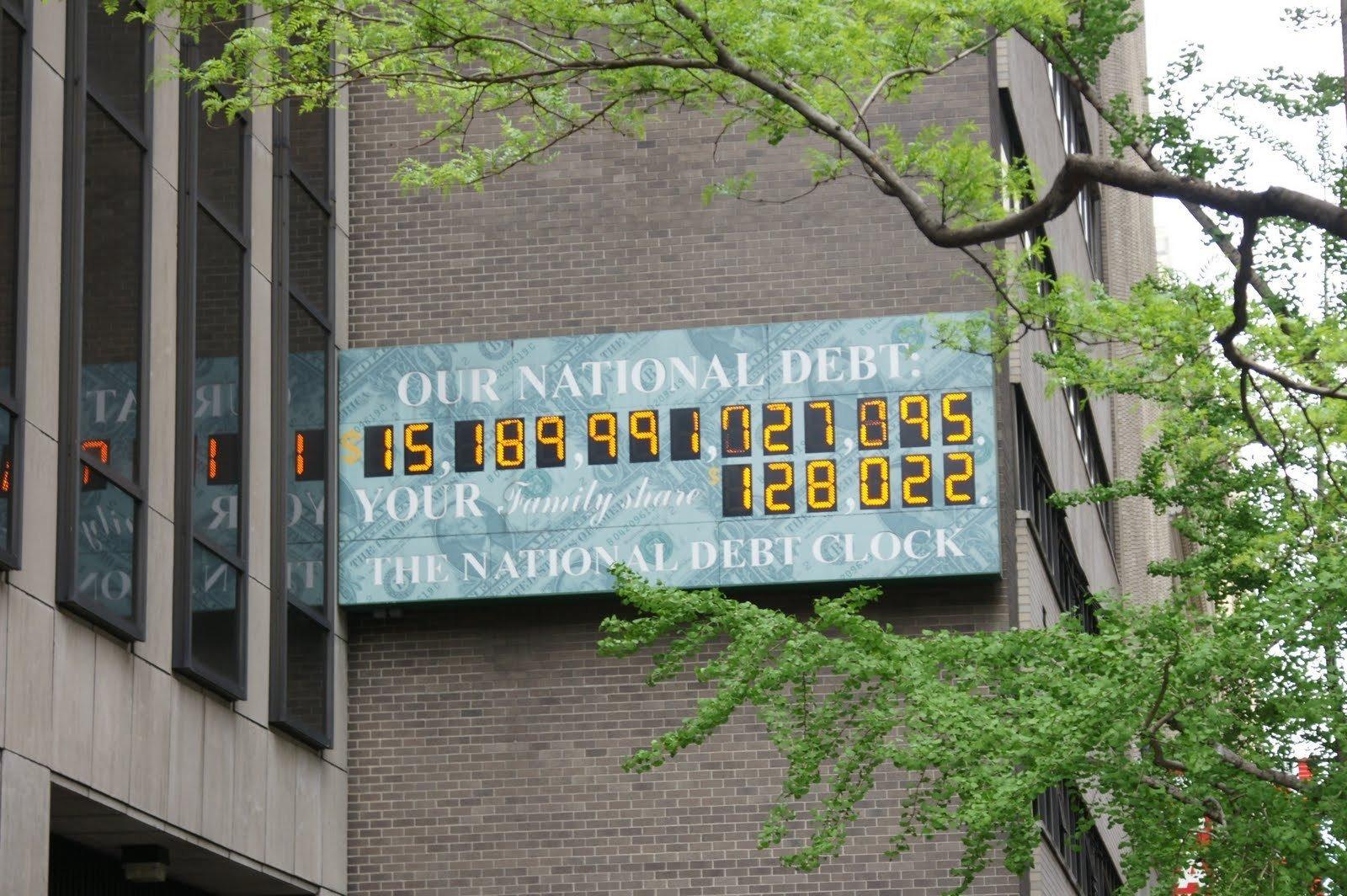Табло сосчетчиком государственного долга США убрали вНью-Йорке
