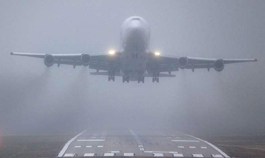 Аэропорт Пулково непринимает самолёты из-за тумана