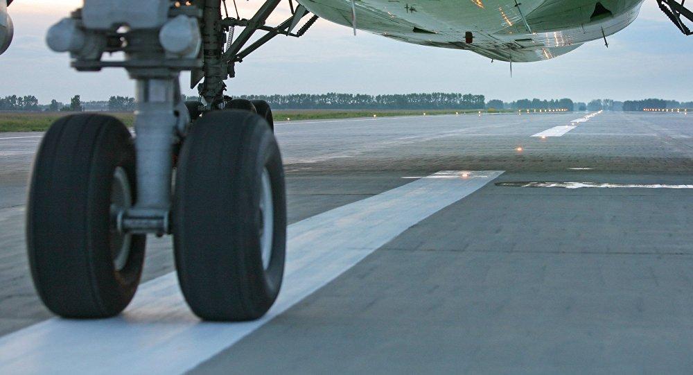 Видео аварийной посадки набрюхо грузового самолета вСША