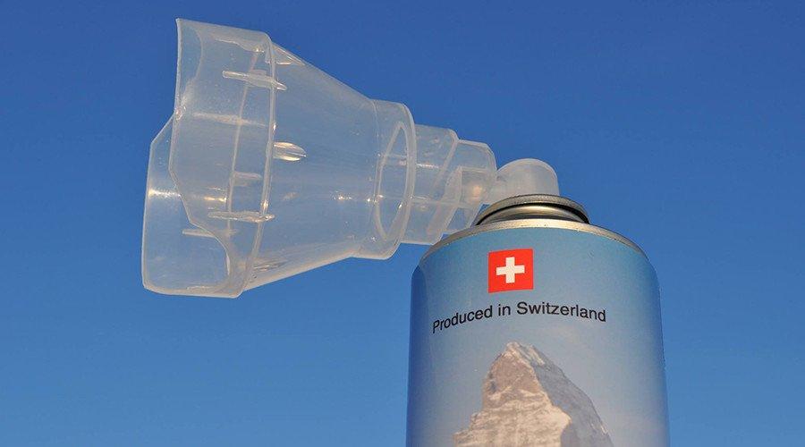 Швейцарская компания начала торговать альпийский воздух