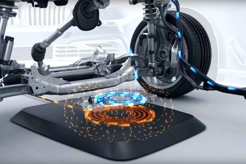 В последующем 2018 у авто БМВ будет беспроводная зарядка
