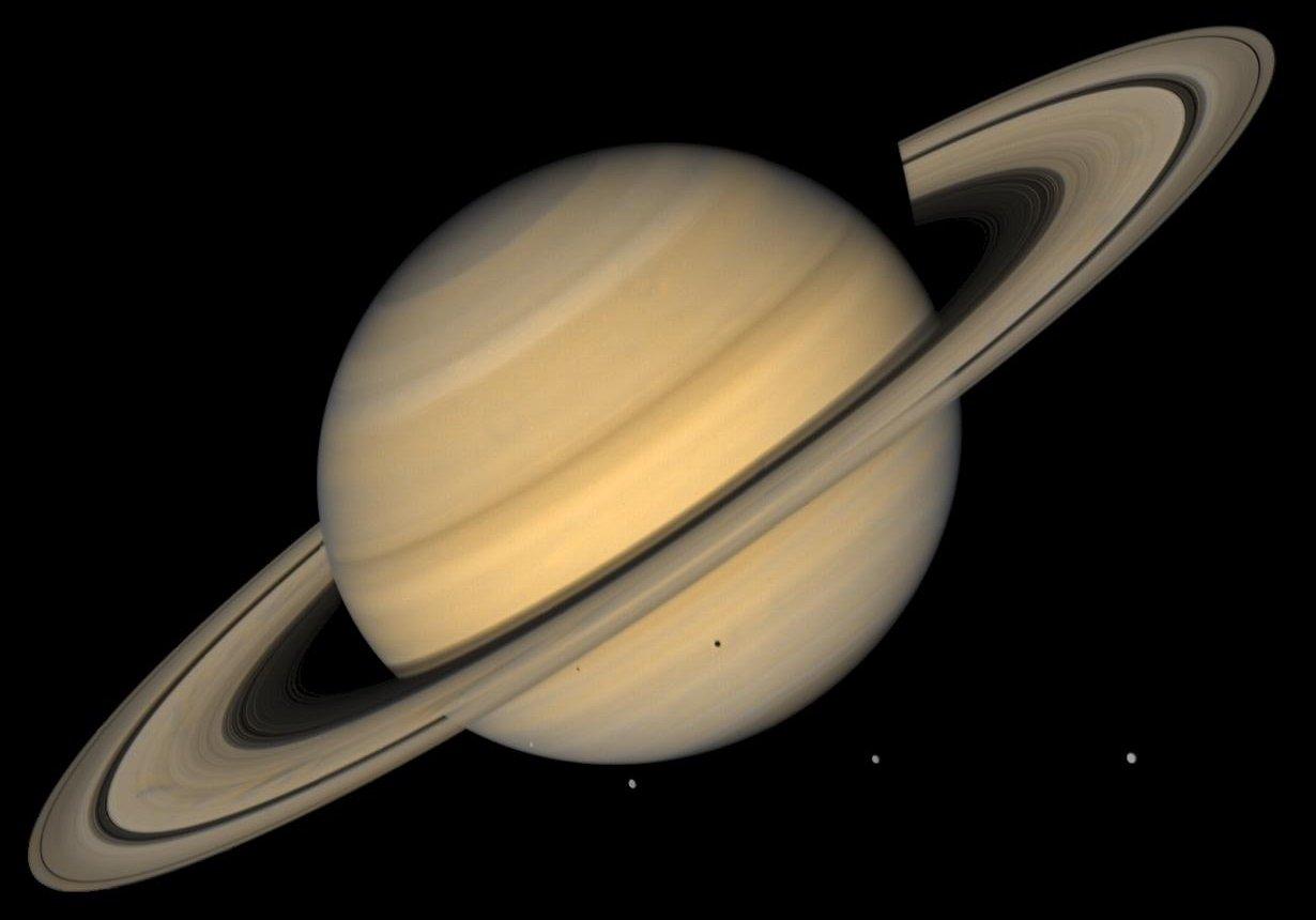 Сгустки материи вокруг Сатурна получили кошачьи имена Пушистик иНосочек