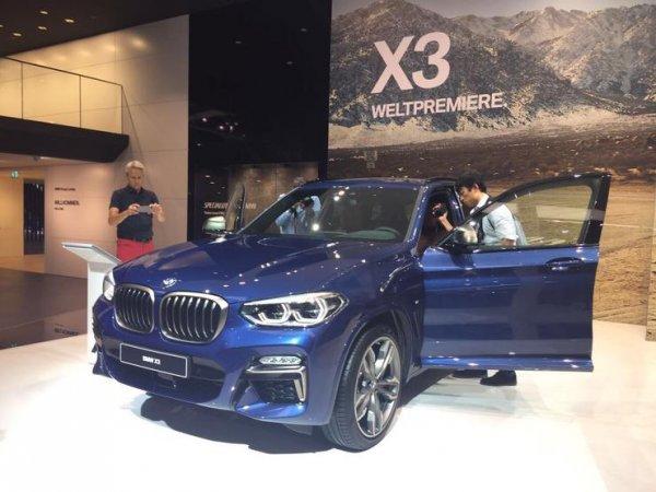 BMW представила во Франкфурте новое поколение внедорожника X3