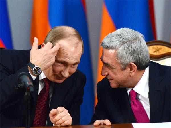 Путин поздравил Саргсяна с Днем независимости Армении