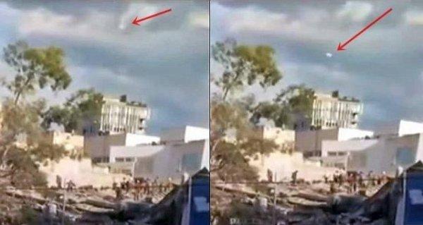 В Мексике после землетрясения заметили НЛО: В прямом эфире инопланетный корабль созерцали миллионы зрителей