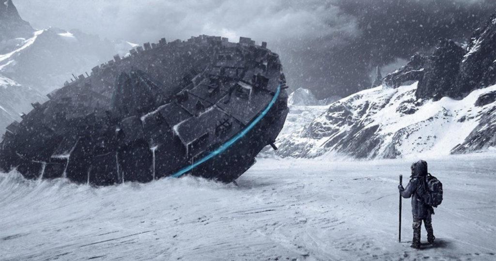 Русский уфолог нашел 12-этажный корабль инопланетян вАнтарктиде