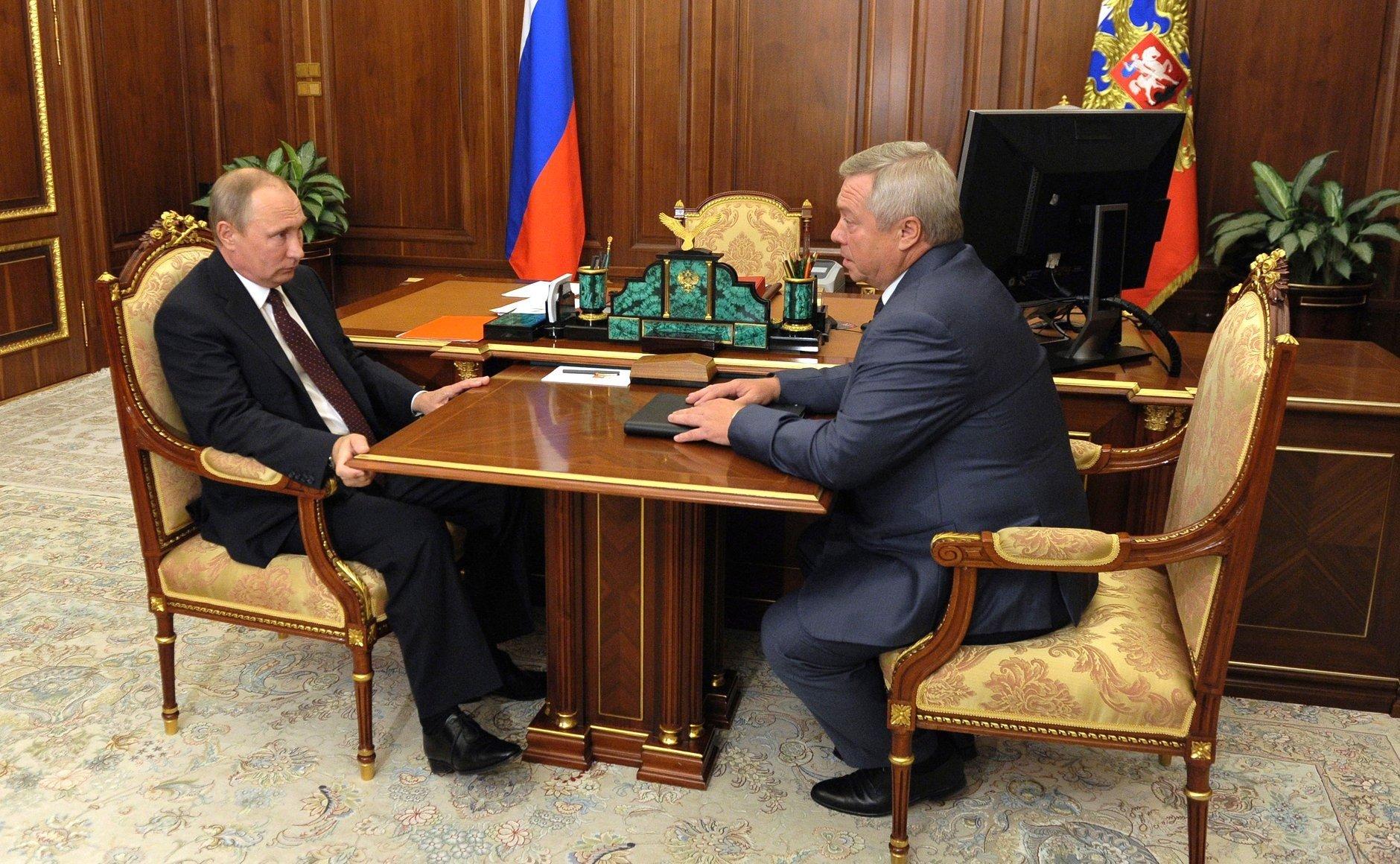 Донской губернатор презентовал Путину «Ростов-Арену» иПлатов