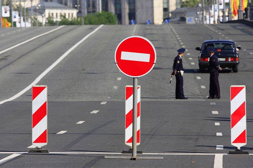 Несколько улиц временно перекроют для транспорта 6 и7октября в российской столице