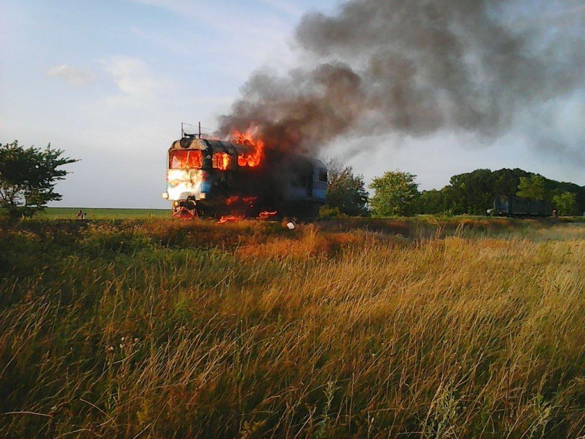 В Украине загорелся поезд Николаев-Киев