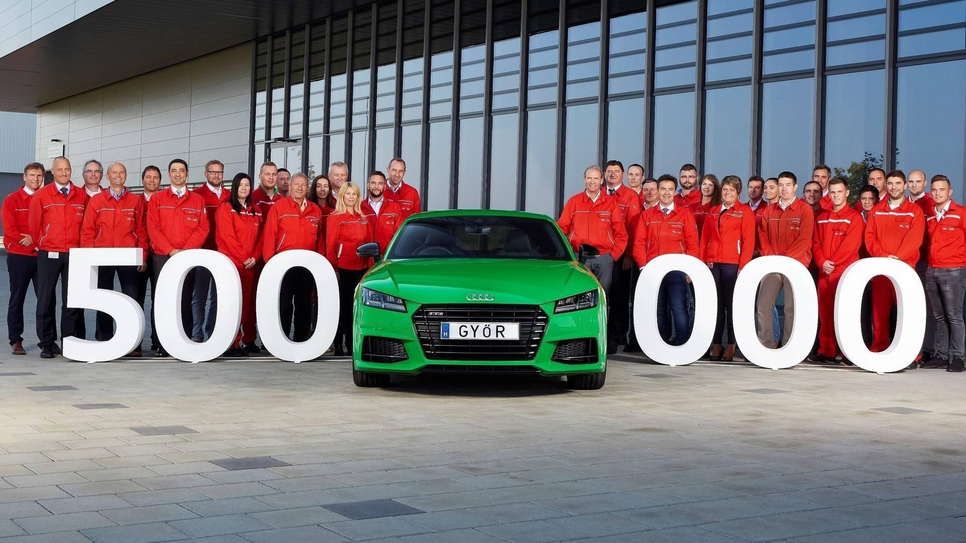 Завод Ауди вВенгрии произвел 500-тысячный автомобиль