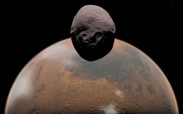 Уфолог нашел наснимках Фобоса корабль инопланетян