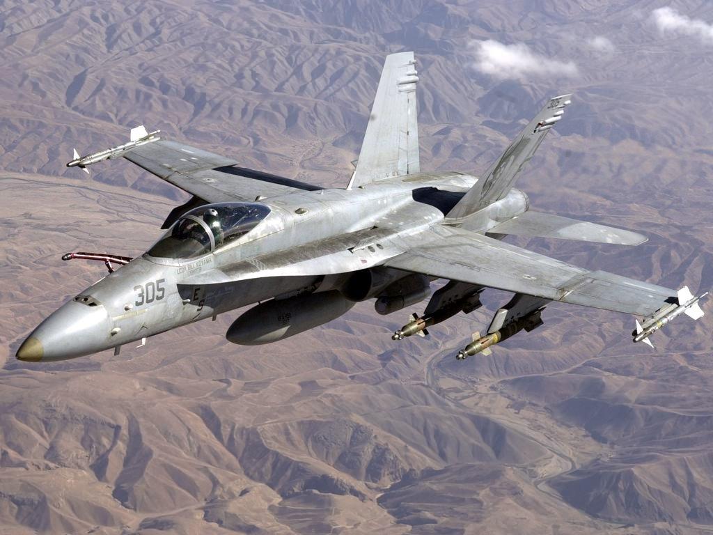 ВИспании разбился истребитель F-18