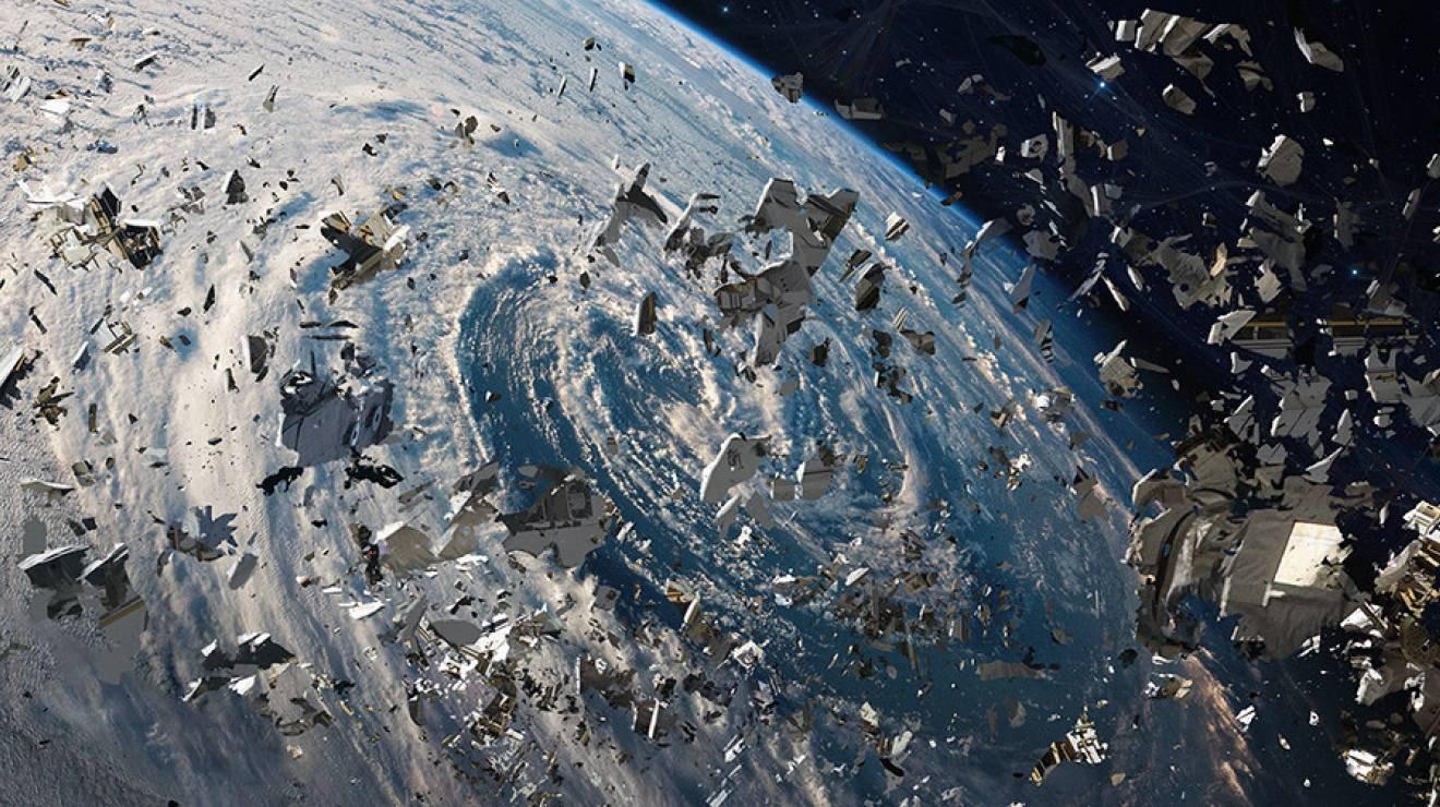 Картинки загрязнение космоса