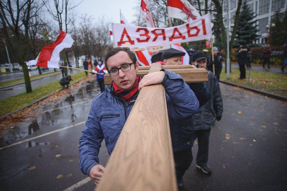 ВМинске уздания КГБ проходит несанкционированная акция
