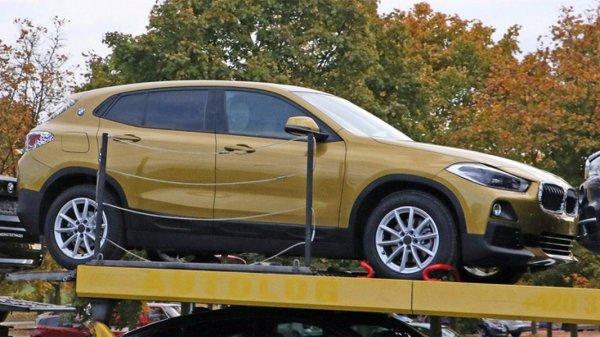 Серийный кроссовер BMW X2 запечатлен без камуфляжа