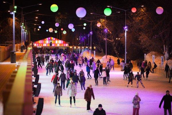 На катке в Парке Горького появятся световые иллюзии