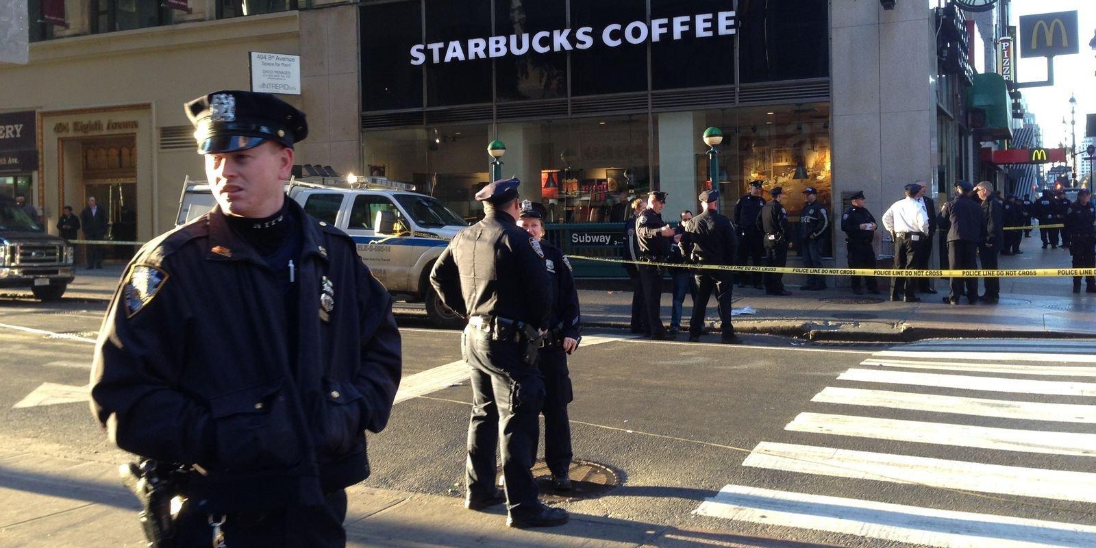 Задержание террориста вНью-Йорке попало навидео