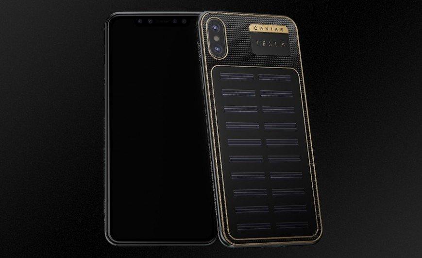 В России выпустили заряжающийся солнечным светом iPhone X Tesla