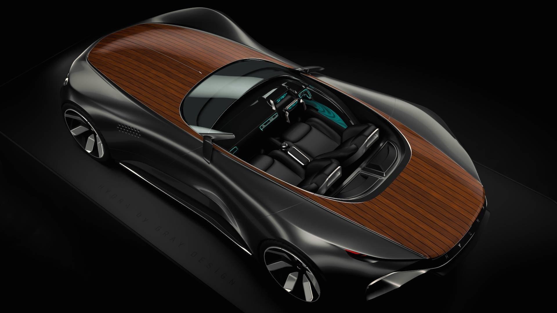 Компания Gray Design представила электрический суперкар сдеревянным кузовком