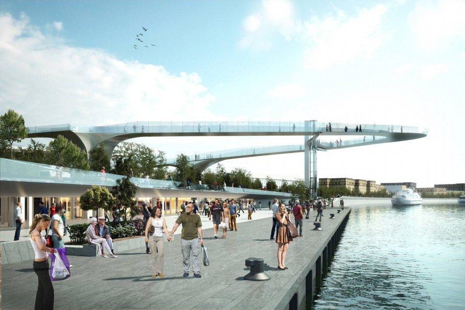 Мост встоличном парке «Зарядье» обработали песком из-за наледи