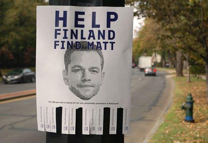 Посольство Финляндии вВашингтоне разыскивает Мэтта Деймона